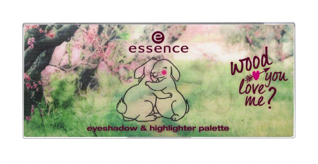 Essence Wood you love me highlighter és szemfesték paletta