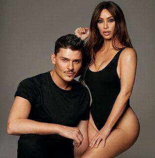 Kim Kardashian a sminkesével dobta össze az új KKW kollekciót