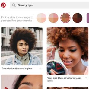 Bőrszínre lesznek szűrhetők a Pinterest beauty fotói
