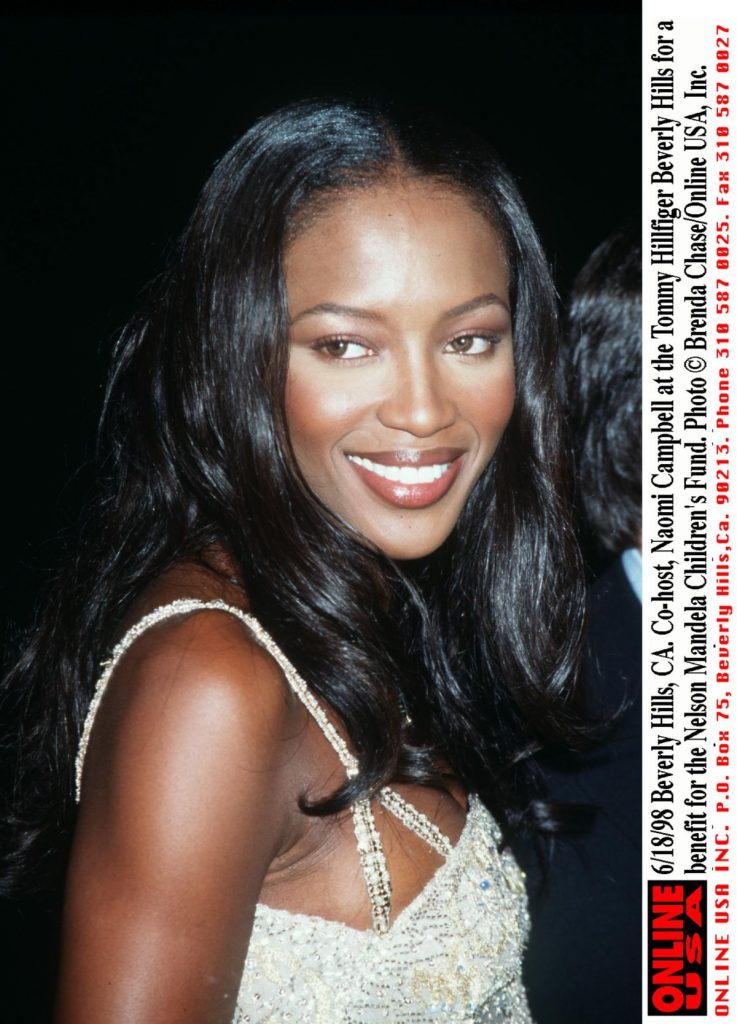 6/18/98 Beverly Hills, CA. Co-host, Naomi Campbell at the Tommy Hillfiger Beverly Hills for a benefi
