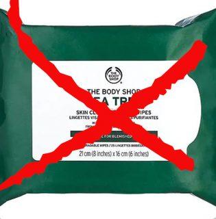 A The Body Shop beszünteti a törlőkendők gyártását