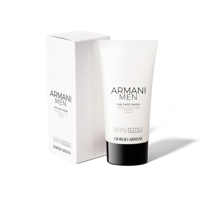 armani face wash packaging