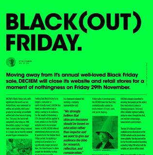 Nem lesz Black Friday a Deciem márkáknál, mást találtak ki helyette