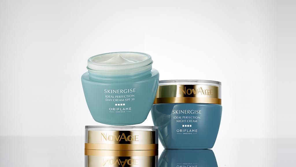 Oriflame NovAge Skinergise Ideal Perfection nappali krém SPF 30 és NovAge Skinergise Ideal Perfection éjszakai krém