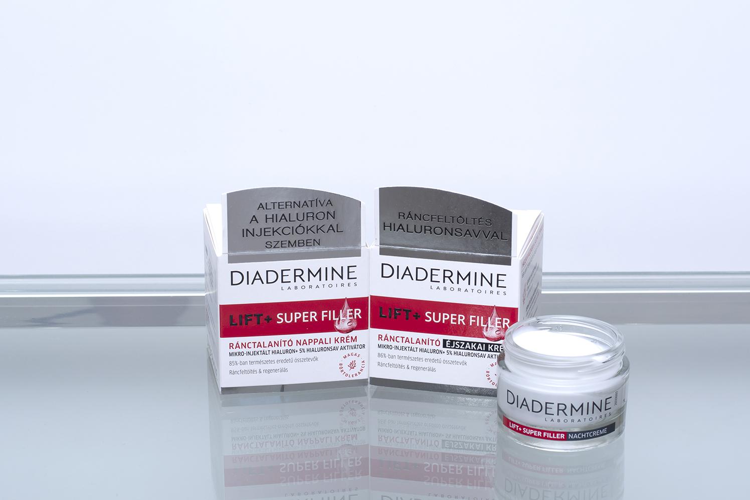 Diadermine Lift+ Super Filler ráncfeltöltő nappali és éjszakai arckrém